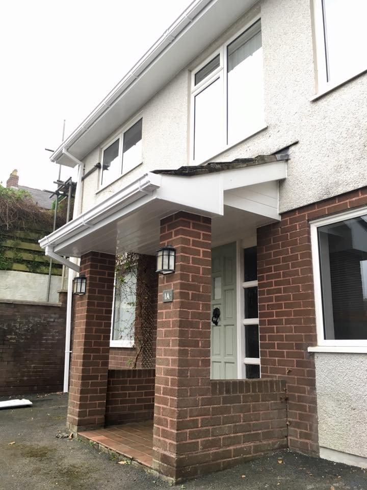 White Replacement Fascias Soffits And White Ogee