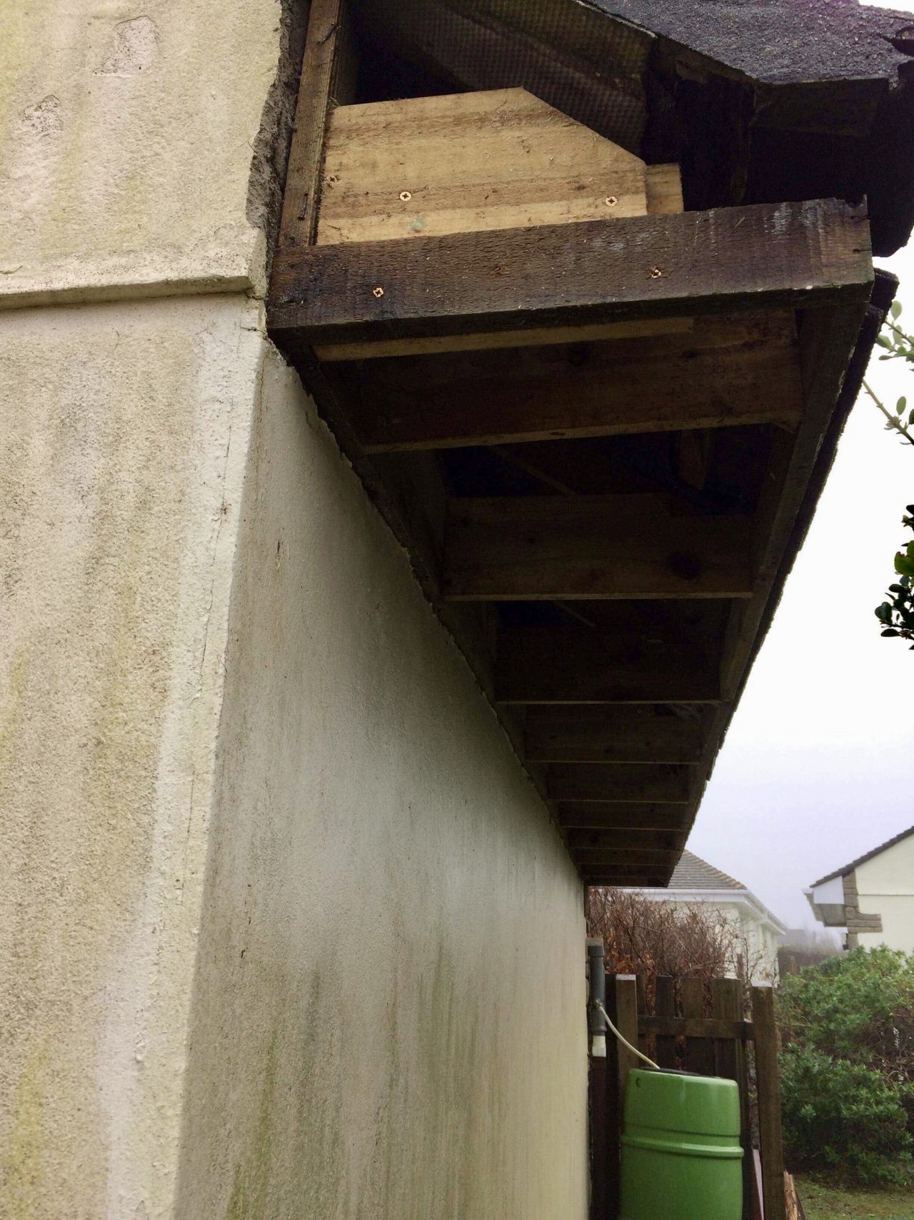 White Replacement Fascias Soffits And Guttering On A