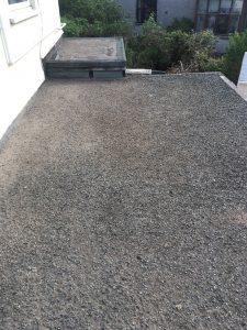 old felt roof