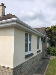 white replacement fascias and hollow soffits and white guttering