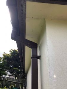 old wood fascias and soffits and guttering