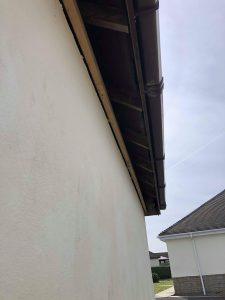 old wood Fascais and soffits removed