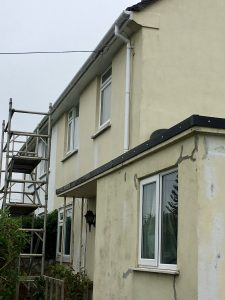 New white replacement fascias, soffits and guttering.