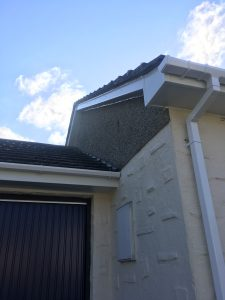 Gable end fascias, soffits.