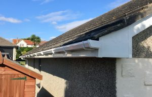 white fascias, soffits and guttering.