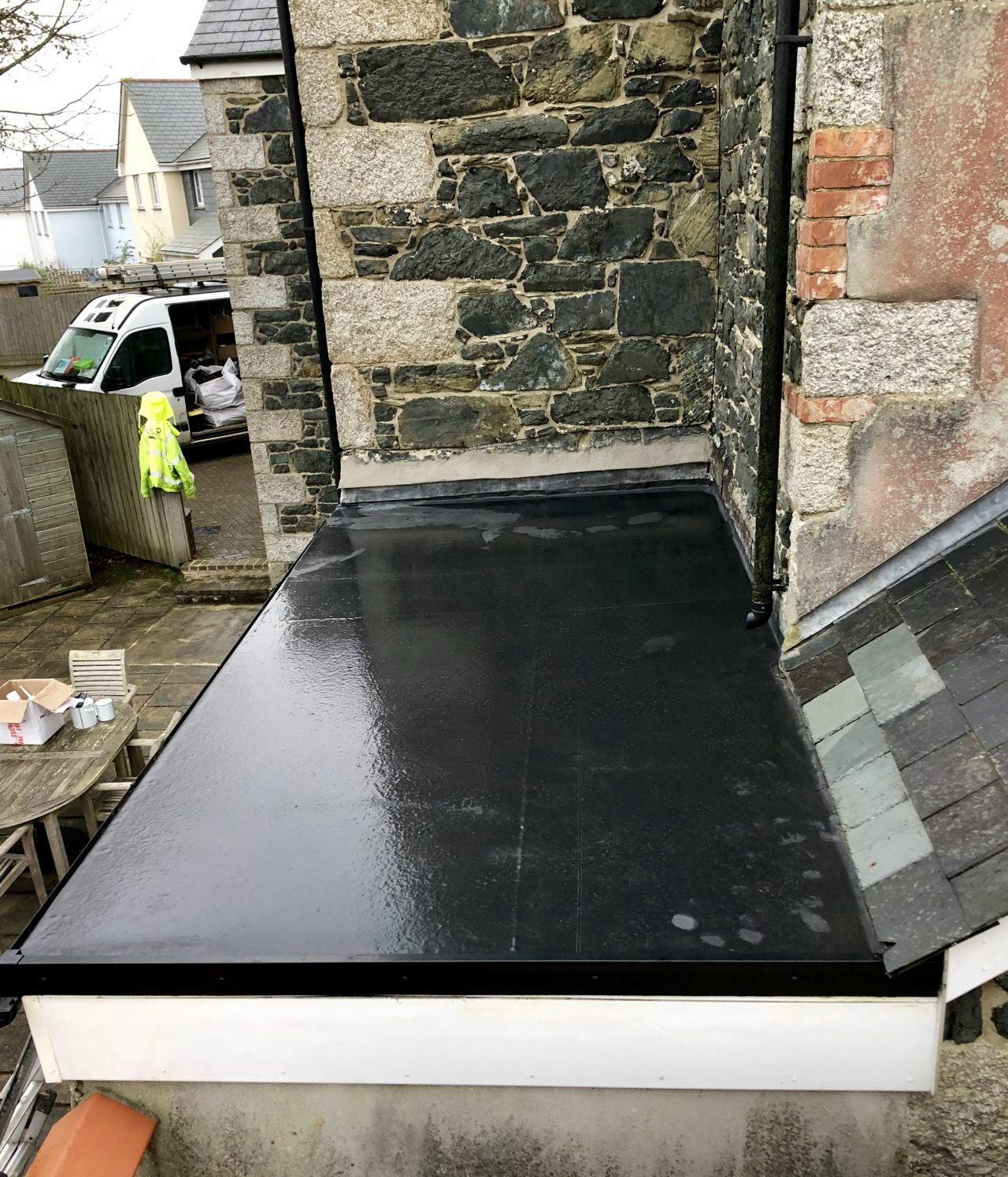 Flat roof replacement in Mullion