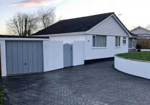 leyland paint and c51 silver grey cedrall cladding
