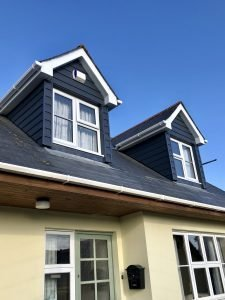 Finished dormer windows with C18 cedral cladding