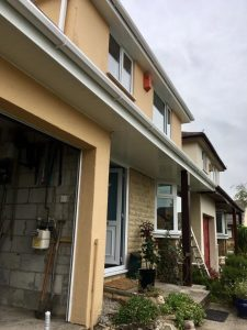 White replacement fascias and soffits